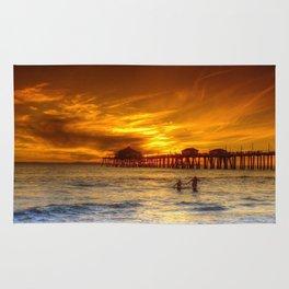 A Winter's Dip * Huntington Beach, California Rug