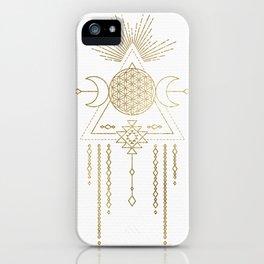 Golden Goddess Mandala iPhone Case