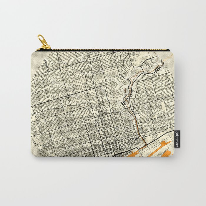 Toronto Map Moon Carry-All Pouch