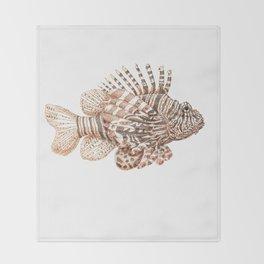 Lionfish Throw Blanket