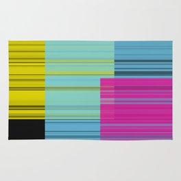 Block Color Transparancy Rug