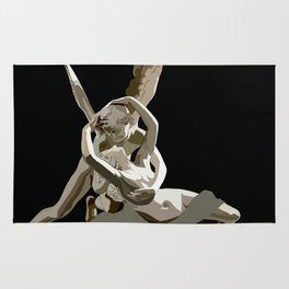 Psyche revived by Cupid´s kiss Rug