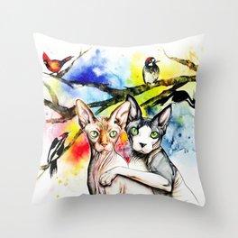 Bird Watchers Throw Pillow