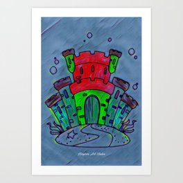 Mermaid Castle 21 Art Print