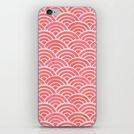 Japanese Seigaiha Wave Pattern – Coral iPhone Skin