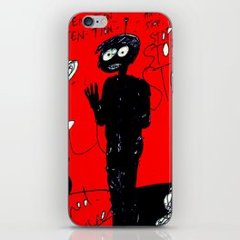 PANIC - red iPhone Skin