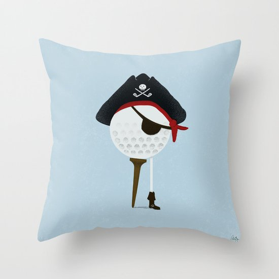 Pirate of the Open Tees Throw Pillow