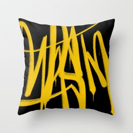 Graffiti Tag Throw Pillow
