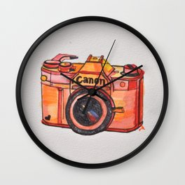 retro camera phone case Wall Clock