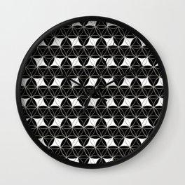 Flower of Life Pattern Rhomboids Wall Clock