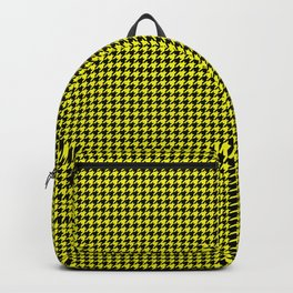 Bright Cats Eye Yellow and Black Hell Hounds Tooth Check Backpack