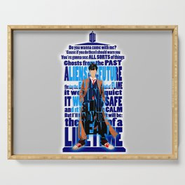 Time Traveller Quotes Typograph Serving Tray