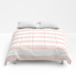 Blush Pink and White Stripes Comforters