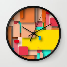 rounded rectangles Wall Clock