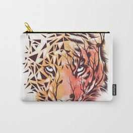 Geometrical Tiger Carry-All Pouch