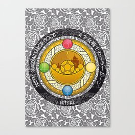 Sailor Moon - Crystal Transformation Brooch Canvas Print