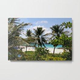 Caribbean Palms Metal Print