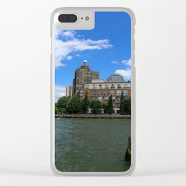 Manhattan And Hudson River Clear iPhone Case