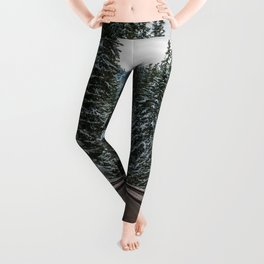 Winter Road Trip - Pacific Northwest Nature Photography Leggings