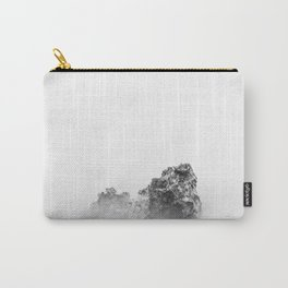 Isolated rock in a mist of sea Carry-All Pouch