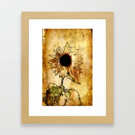 Sunflower Art Framed Art Print