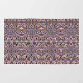 Aboriginal Pulse Pattern Neutral Warm Rug