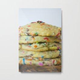Soft Sprinkled Cookies Metal Print