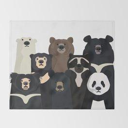 Bears of the world Throw Blanket