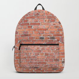 Plain Old Orange Red London Brick Wall Backpack