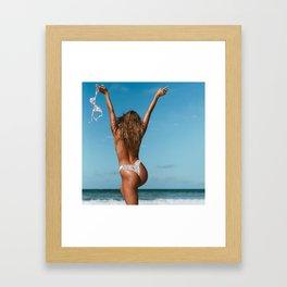 Free the Nipple   Silver Framed Art Print