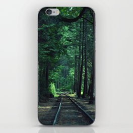 Train Rails in the Forest iPhone Skin
