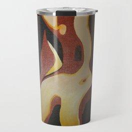 Back View Of A Nude Woman Travel Mug