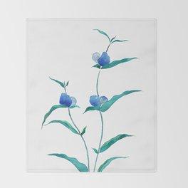 spreading dayflower Throw Blanket