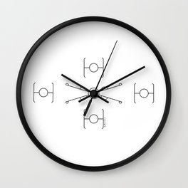 Geometric Minimal StarWars Pattern Wall Clock