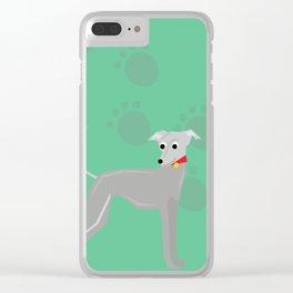 Rocket Greyhound Clear iPhone Case