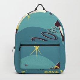 Have fun in space vintage cartoon Backpack