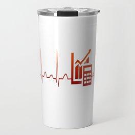 ACCOUNTANT HEARTBEAT Travel Mug