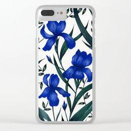 Blue Iris Clear iPhone Case