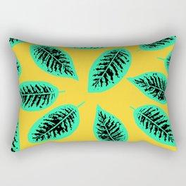 Dieffenbachia tropical leaf pattern Rectangular Pillow