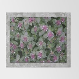 WILD SALVIA MAUVE AND GRAY GREEN Throw Blanket