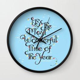 Christmas Season Wall Clock