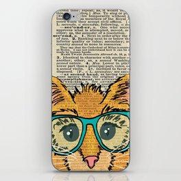 Orange Kitty Cat iPhone Skin