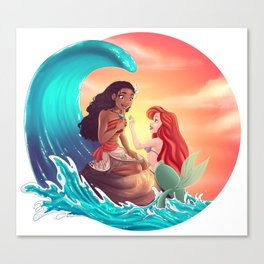 Moana and Ariel Canvas Print