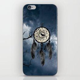 Black Bird Crow Tree Dream Catcher Night Moon A082 iPhone Skin