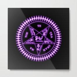 Sebastian Michaelis Sigil Light (black bg) Metal Print