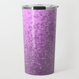 lilac collage of many small checks for a festive modern pattern Travel Mug