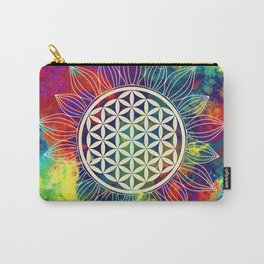 Flower Of Life (Lively World) Carry-All Pouch