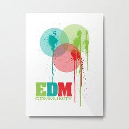 Bubbles. EDM (Electronic Dance Music) Community Metal Print