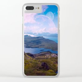 Moon Rise Clear iPhone Case