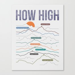 how high Canvas Print